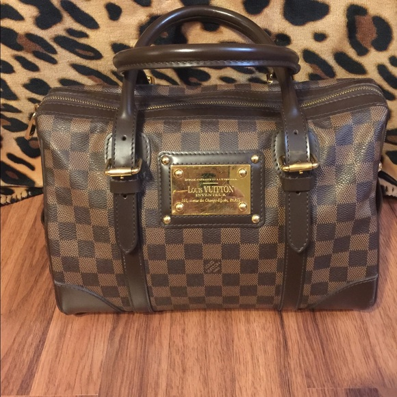 Louis Vuitton Handbags - LOUIS VUITTON DAMIER EBENE BERKELEY SATCHEL BAG